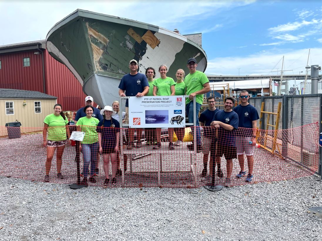 Helping Hands Makes Headway at Buffalo & Erie County Naval & Military Park